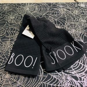 Rae Dunn SPOOKY and BOO Kitchen Towels